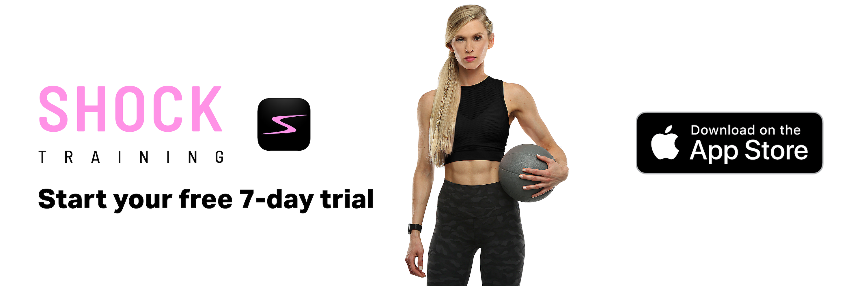 The SHOCK Women's Fitness App gives women a new way to get fit, tone up, and build muscle.