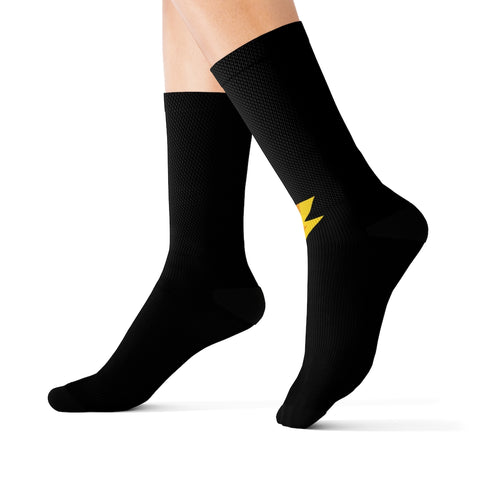 Black Sublimation Socks