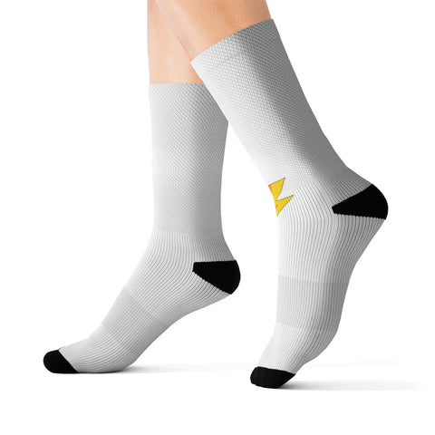 White Sublimation Socks
