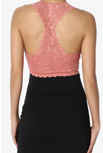 Dream Of Lace Bralette Ash Rose