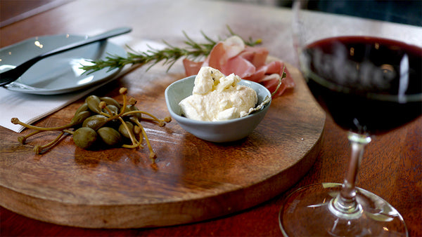 Our Pinot Noir paired with some tasty local cheese at Taste Yarra Valley in Warburton.