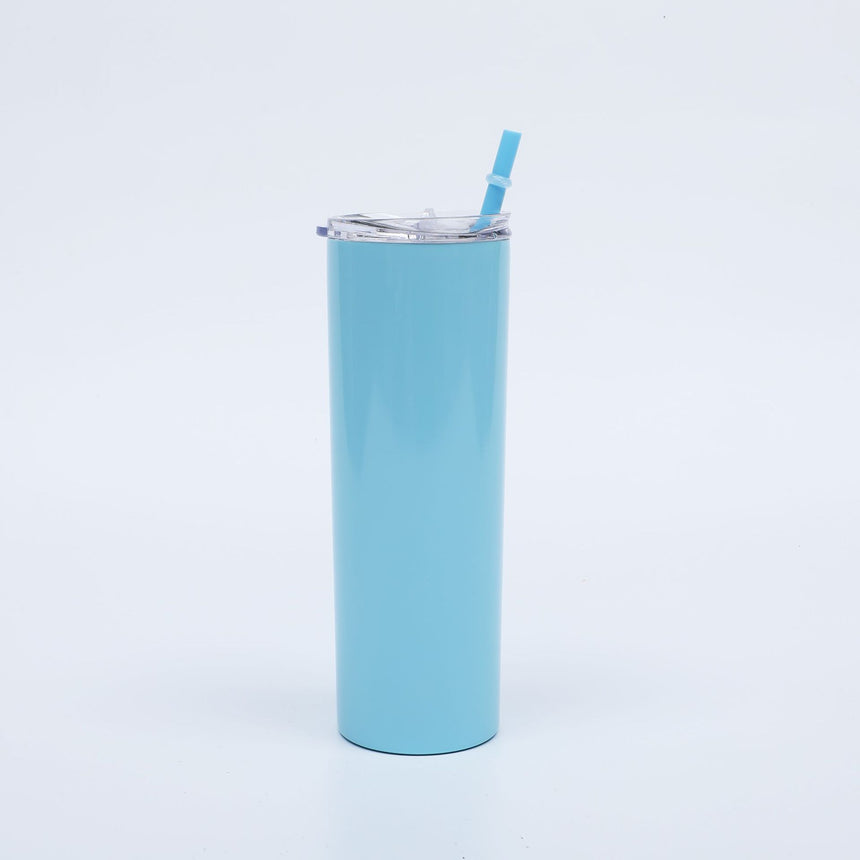Light Blue Skinny Tumblers