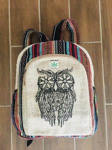 Hemp Back Pack All Natural Handmade Multi Pocket Laptop Backpack - - Halo Toys & Electronics