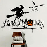 Halloween Wall Stickers Flying Witches Living Room - Halo Toys & Electronics