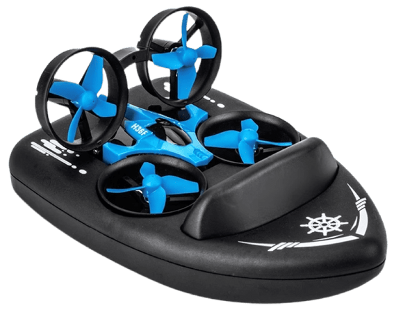 The 3-In-1 Speed Boat/Land Hovercraft Toy Drone - Halo Toys & Electronics