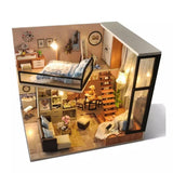 Handmade DIY Two-Story Miniature Wooden Doll House +FREE SHIPPING - Halo Toys & Electronics
