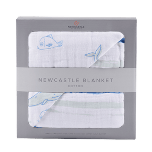Kids/Baby Whale and Ocean Stripe Newcastle Blanket - Halo Toys & Electronics
