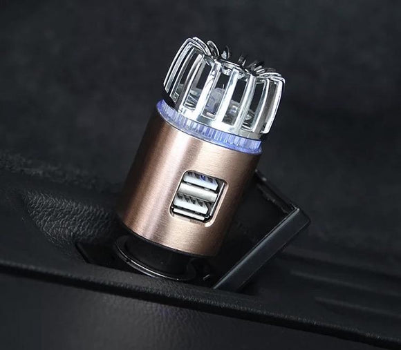 Cool New Mini Ionizer/Air Purifier For The Car W/ Duel USB Charging Ports + FREE SHIPPING - Halo Toys & Electronics