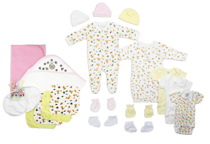 Newborn Baby Girls 21 Pc Layette Baby Shower Gift - Halo Toys & Electronics