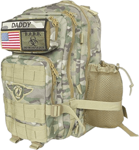Camo Tactical Dad Diaper Bag (Backpack Style) w/ Removable Patches - Halo Toys & Electronics