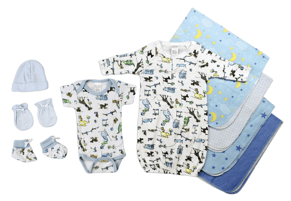 Newborn Baby Boys 9 Pc Layette Baby Shower Gift - Halo Toys & Electronics