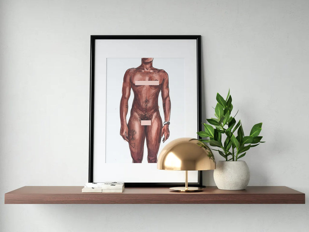 More at Home - Censored Print