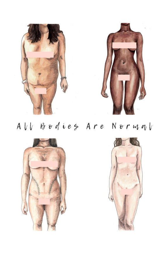 All Bodies Are Normal - 2 x 2 Censored Print