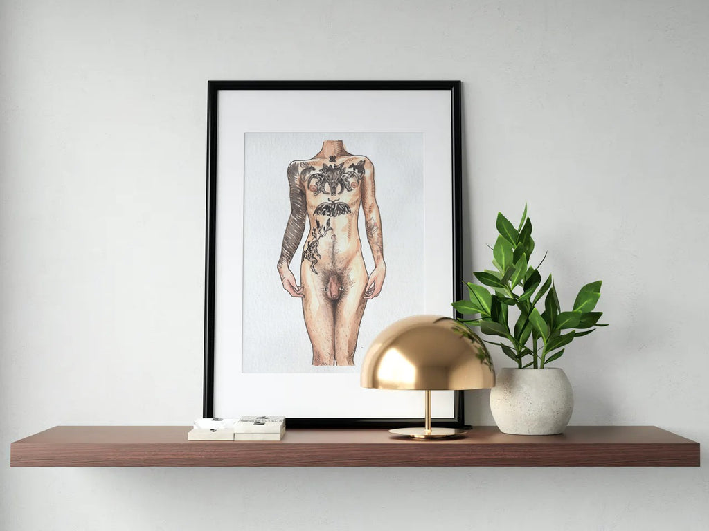 I Am A Goddess - Uncensored Print