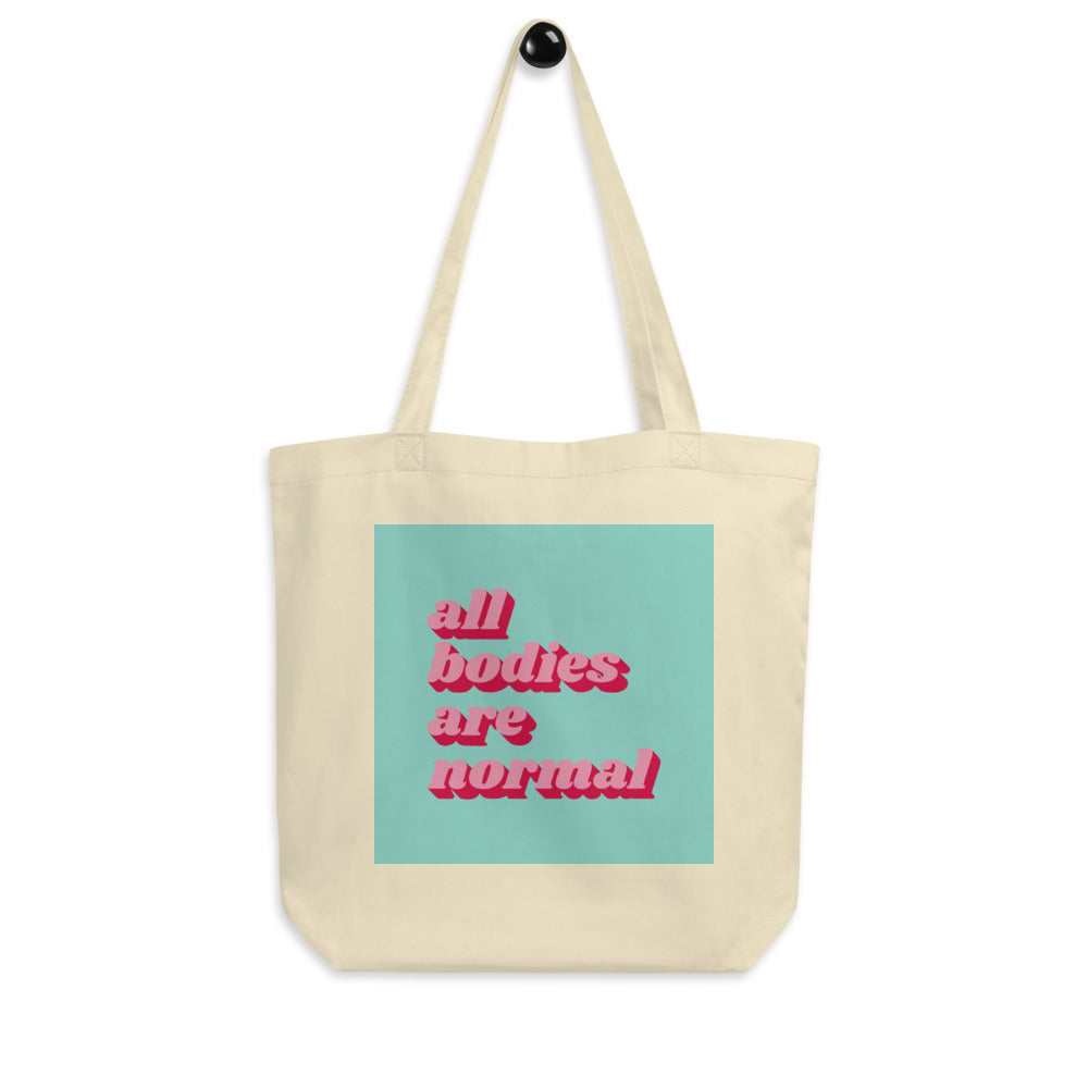 All Bodies Are Normal Tote - Pink & Mint