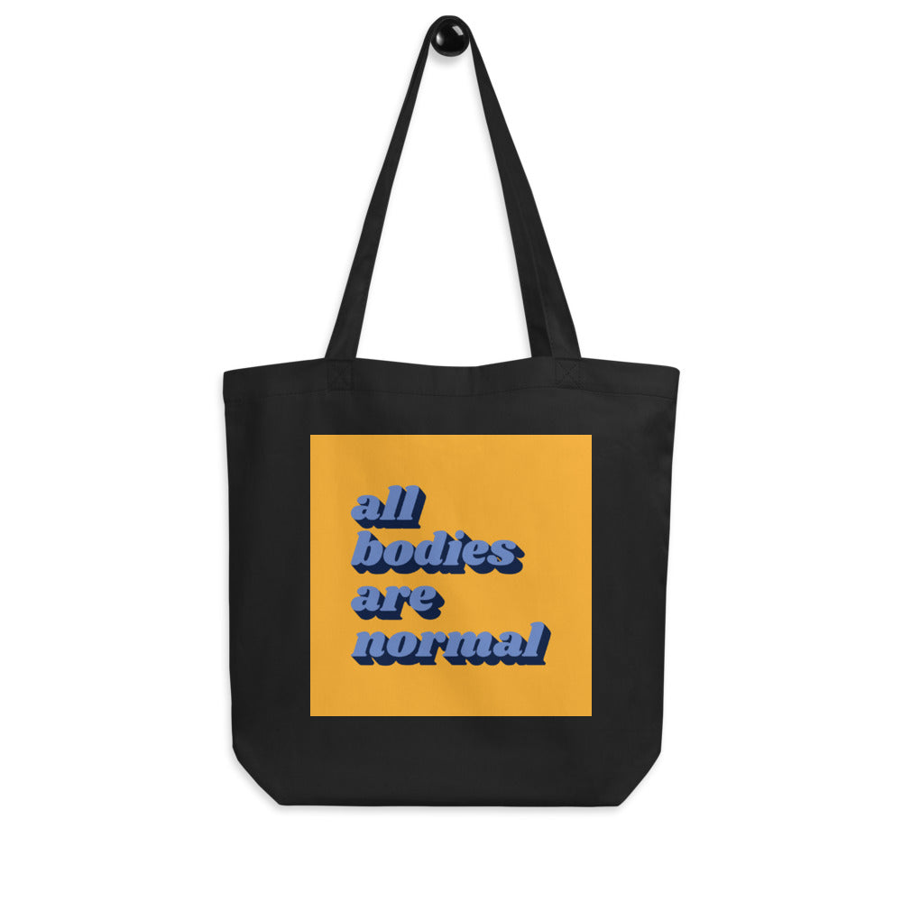 All Bodies Are Normal Tote - Yellow & Blue