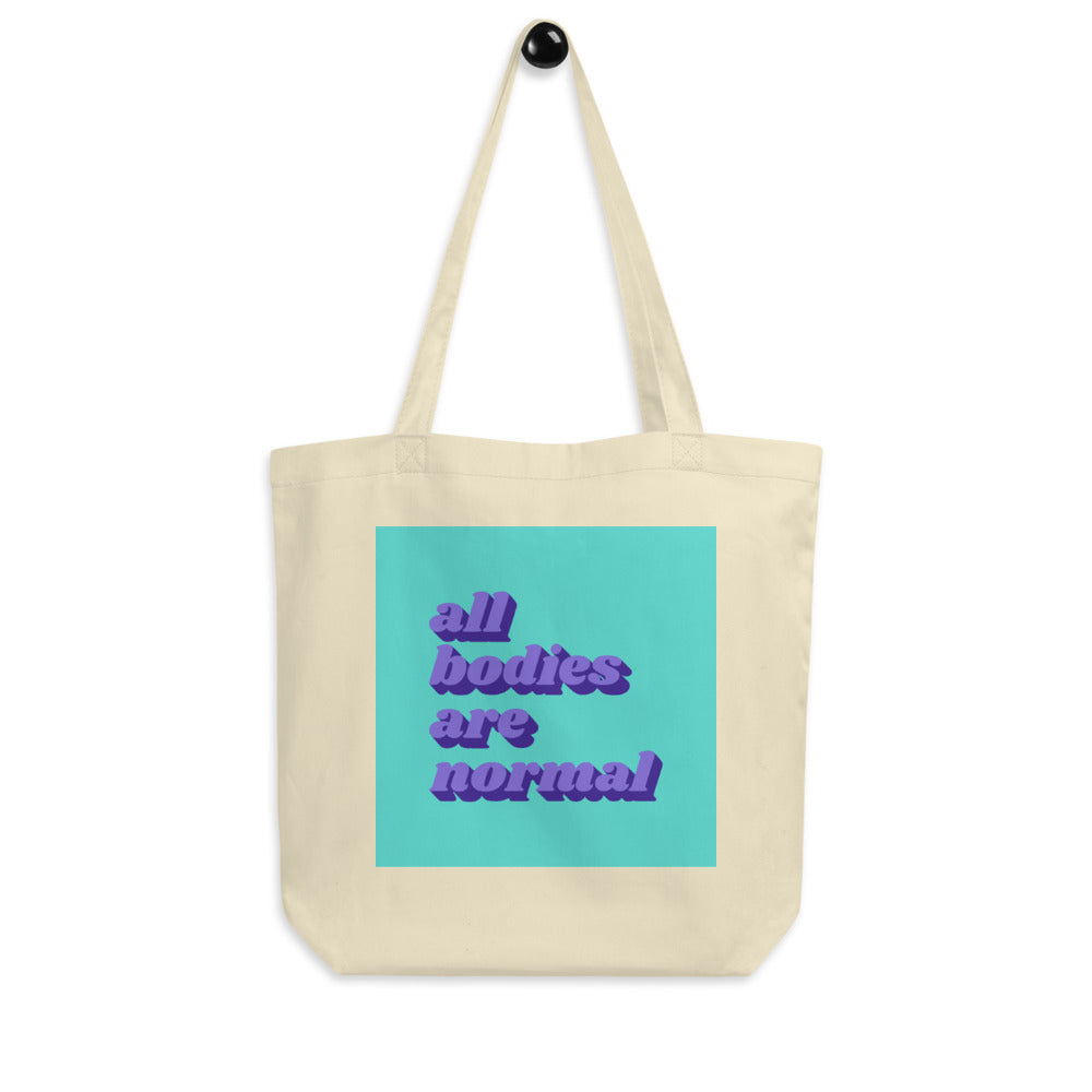 All Bodies Are Normal Tote - Purple & Teal
