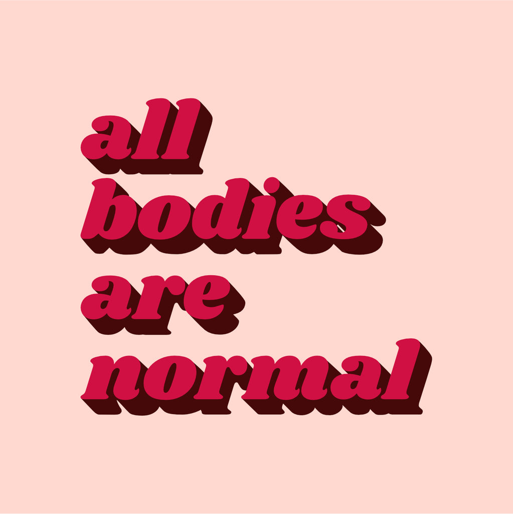 All Bodies Are Normal Tote - Pink & Red