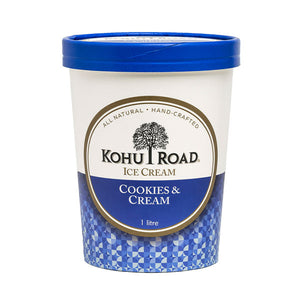 Kohu Road Cookies and Cream Ice Cream 1L