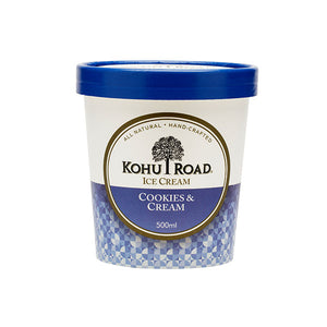Kohu Road Cookies and Cream Ice Cream 500ml