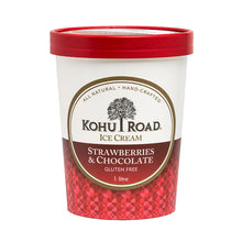 Load image into Gallery viewer, Kohu Road Strawberries and Chocolate Ice Cream 1L