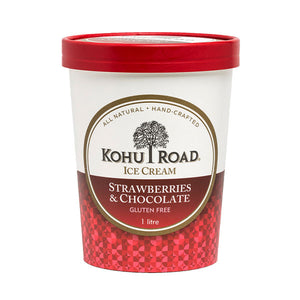 Kohu Road Strawberries and Chocolate Ice Cream 1L