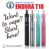 Innokin Endura T18 Starter Kit. The Village Vaporette.