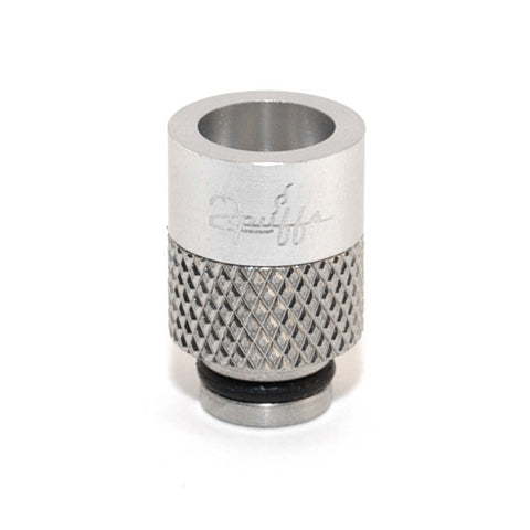 2Puffs drip tips, silver. The Village Vaporette.