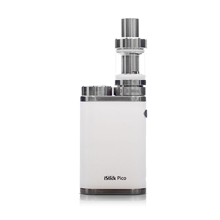 Eleaf iStick PICO 75W Temp Control Starter Kit, white. The Village Vaporette.