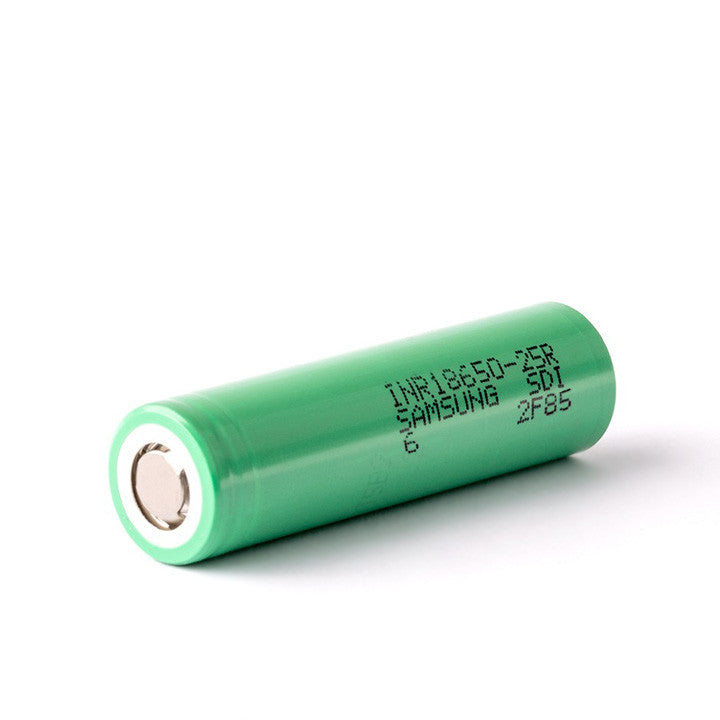 Samsung INR 18650 25A battery. The Village Vaporette.
