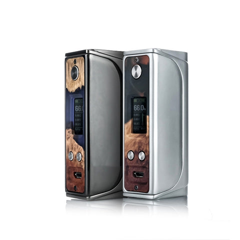 Sigelei Evaya 66W Mod with Stabilized Wood face plate. The Village Vaporette.