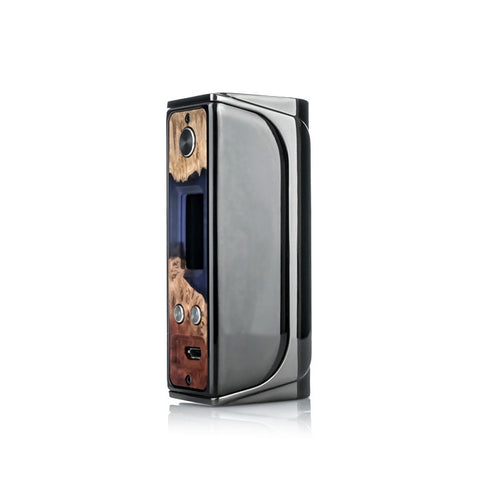 Sigelei Evaya 66W Mod with Stabilized Wood face plate, gun metal. The Village Vaporette.
