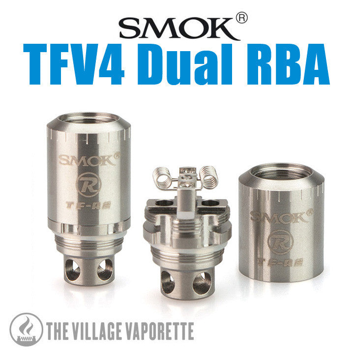 SMOK TFV4 Dual RBA section. The Village Vaporette.