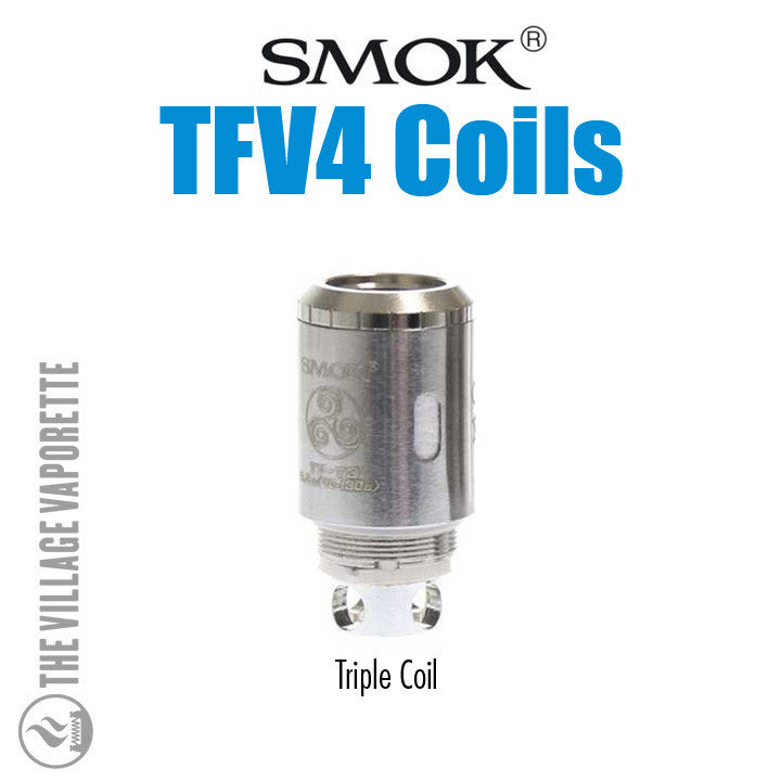 TFV4 Coil Heads, triple coil. The Village Vaporette