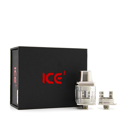 Wotofo ICE Cubed RDA, packaging. The Village Vaporette.