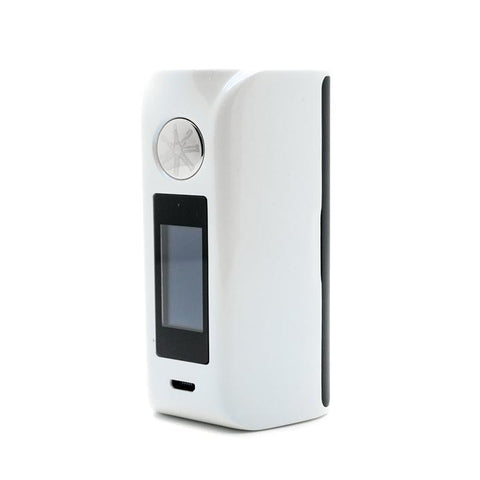 Asmodus Minikin V2 with Touch Screen, white with black. The Village Vaporette.