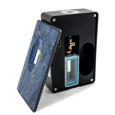 Asmodus SPRUZZA 80W Squonk Kit, inside. The Village Vaporette.