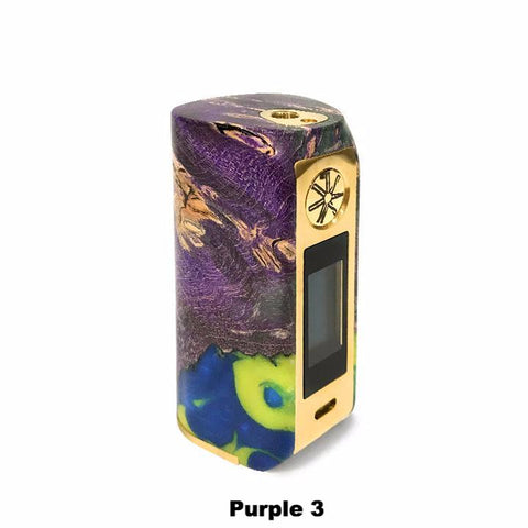 Asmodus Minikin V2 Stabilized Wood, purple with gold trim 3. The Village Vaporette.