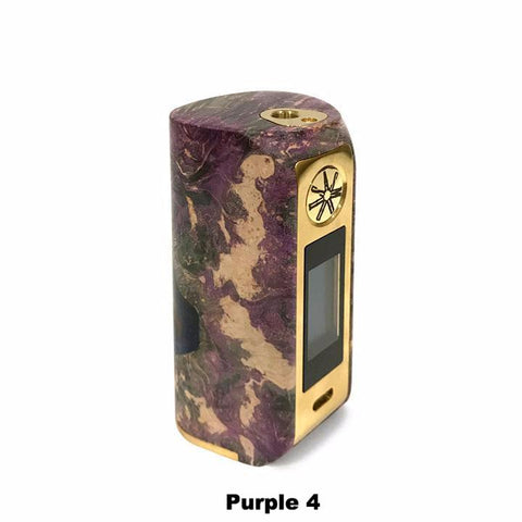 Asmodus Minikin V2 Stabilized Wood, purple with gold trim 4. The Village Vaporette.