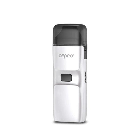 Aspire Breeze NXT Pod System, White. The Village Vaporette, Cambridge, Ontario, Canada, pod vape, auto puff, adjustable airflow, MTL, DTL, 5.4mL capacity, replaceable coils, open pod, refillable, all in one, aio,