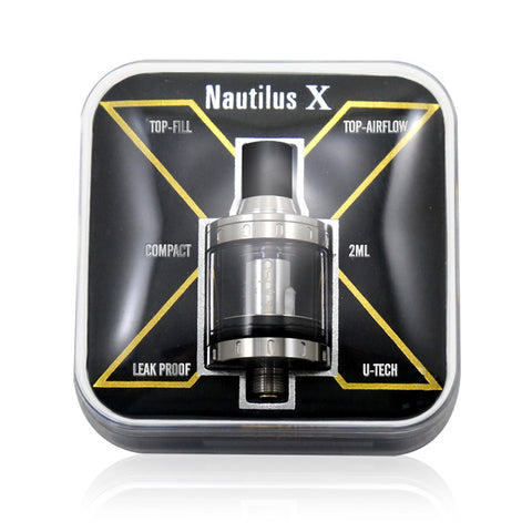 Aspire Nautilus X, packaging. The Village Vaporette.