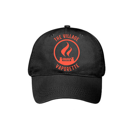 Ball cap with 'The Village Vaporette' logo. The Village Vaporette.
