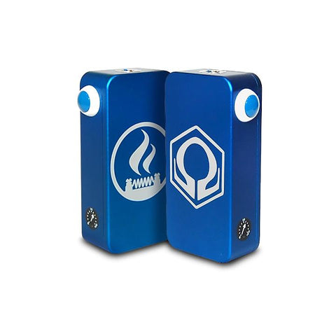 Craving Vapor Hexohm v3.0, Village Vaporette Edition, blue front and back logos. The Village Vaporette.