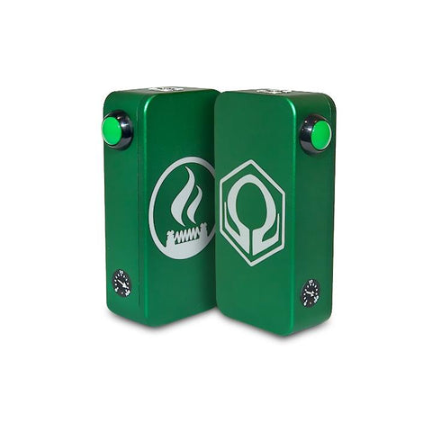 Craving Vapor Hexohm v3.0, Village Vaporette Edition, green front and back logos. The Village Vaporette.