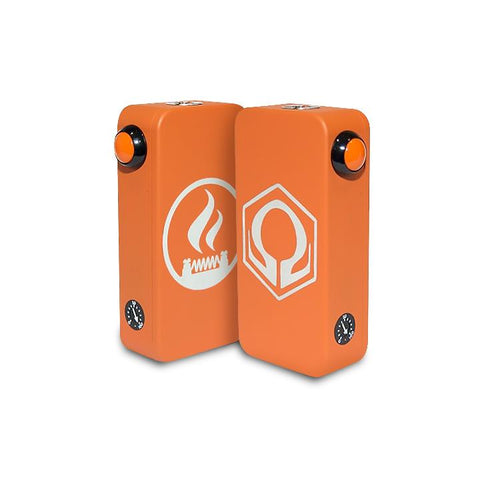 Craving Vapor Hexohm v3.0, Village Vaporette Edition, orange front and back logos. The Village Vaporette.