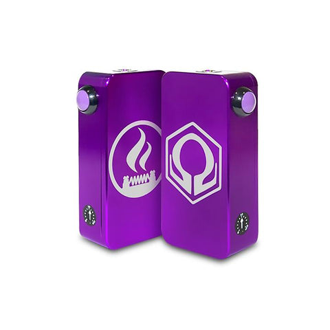 Craving Vapor Hexohm v3.0, Village Vaporette Edition, purple front and back logos. The Village Vaporette.