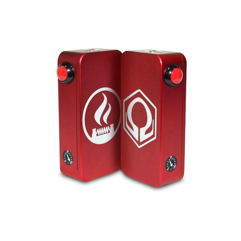 Craving Vapor Hexohm v3.0, Village Vaporette Edition, red front and back logos. The Village Vaporette.