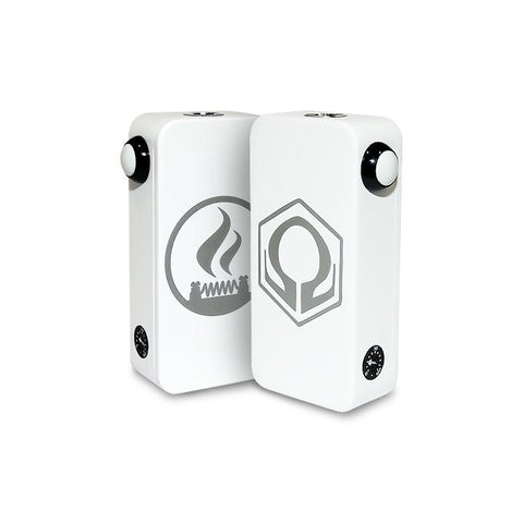 Craving Vapor Hexohm v3.0, Village Vaporette Edition, white powder coat front and back logos. The Village Vaporette.