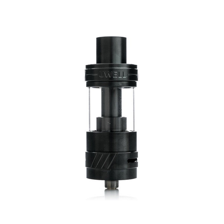 Uwell Crown II Tank, black. The Village Vaporette.