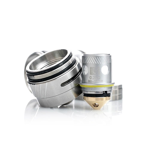 Uwell Crown II Tank, base and coil. The Village Vaporette.